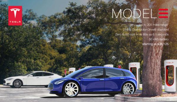 Концепт Tesla Model 3 от дизайн-студии Stumpf