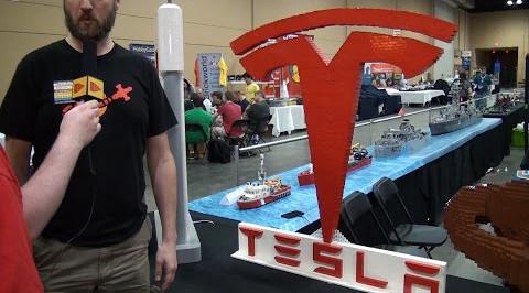 Лого Тесла из Лего