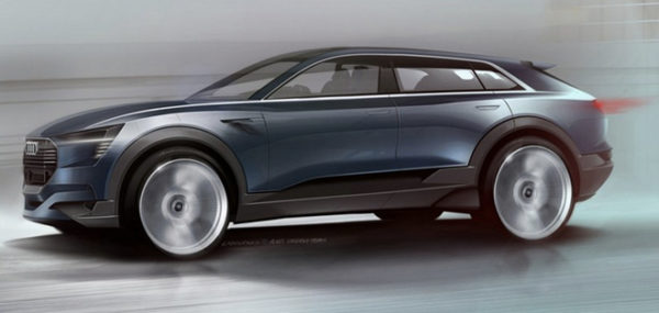 Эскиз Audi e-tron Quattro