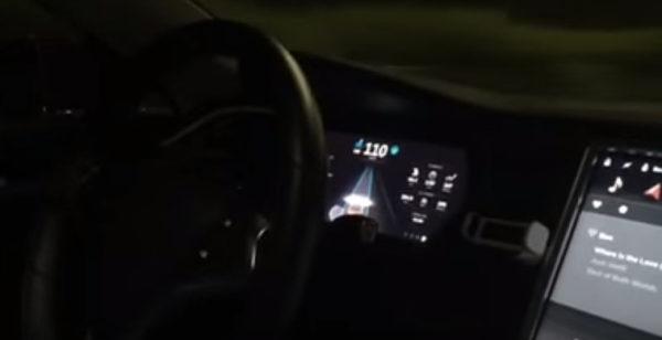 Видео работы прошивки Tesla 7.0