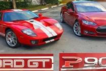 Видео: Tesla Model S P90D Ludicrous против Ford GT