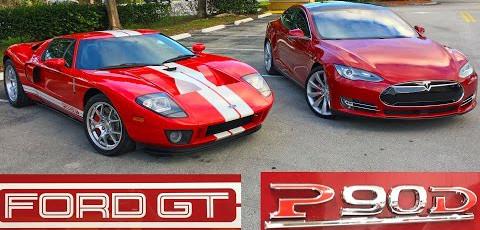 Tesla против Ford GT
