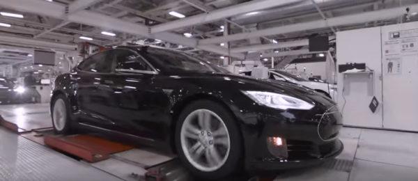 Tesla на испытательном стенде