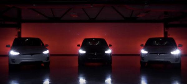 Tesla Model X на световом шоу