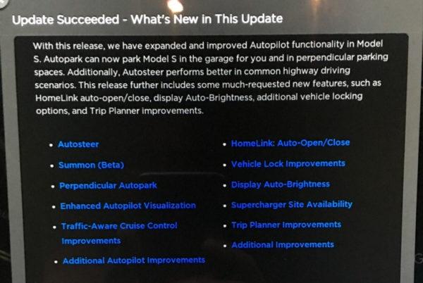 Описание обновления прошивки Tesla 7.1