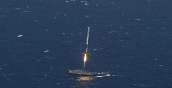 Посадка первой ступени Falcon 9