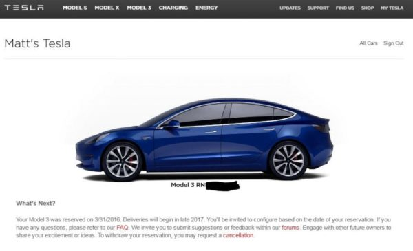 Сообщение для будущих владельцев Tesla Model 3