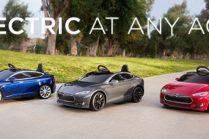 Tesla Model S для детей испытают на мини-треке