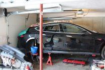 Ремонт автомобиля-утопленника Tesla Model S