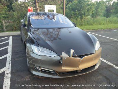 Model S с сенсором в передней части