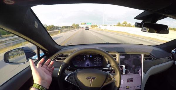 Автопилот на Tesla 8.1