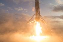 Видео: посадка использованной ступени Falcon 9 крупным планом