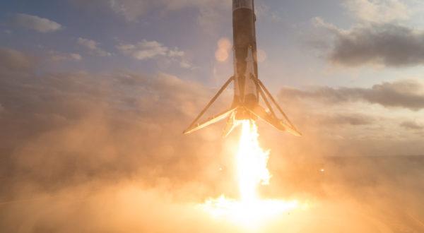 Посадка Falcon 9 на морскую платформу