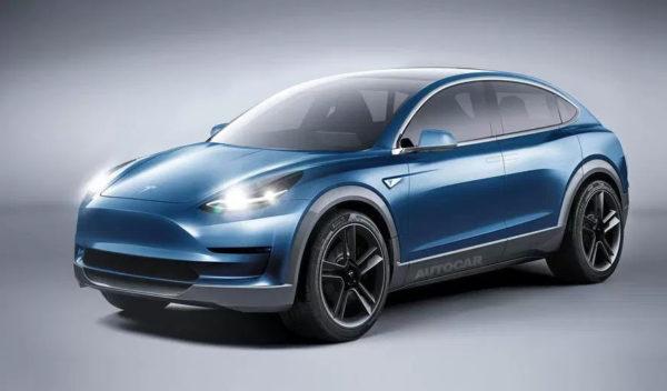 Неофициальный рендер Tesla Model Y компании Autocar
