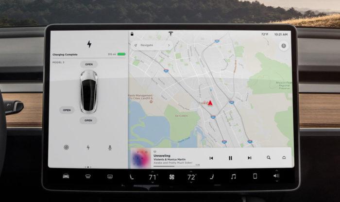 Горизонтальный дисплей Model 3