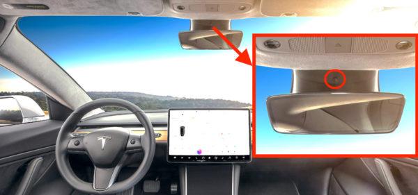 Камера в Tesla Model 3