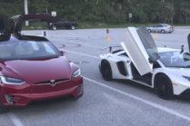 Tesla Model X опережает Lamborghini Aventador: рекорд 1/4 мили за 11,4 секунды