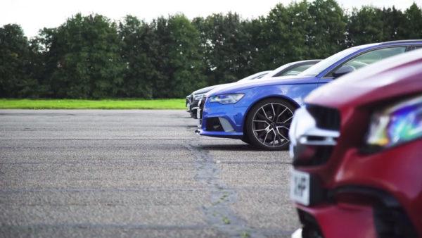 Tesla Model S против немцев в гонке драг-рейсинг