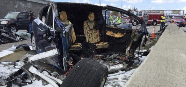 Авария Tesla X