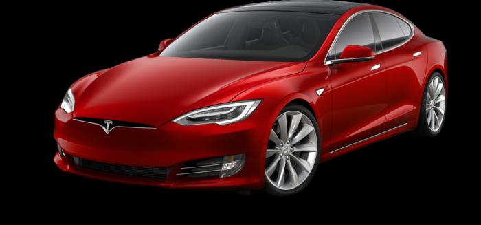 Красная TeslaModelS